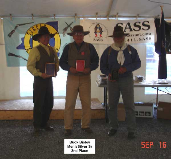 Buck Bisley placed 2nd in Men's Silver Senior.