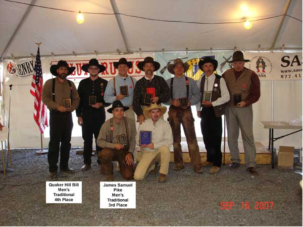 James Samuel Pike placed 3rd, while Quaker Hill Bill placed 4th in Men's Traditional.