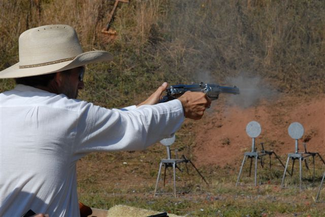 Brett Cantrell shooting Gunfighter.